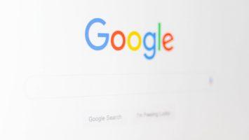 Page d'accueil du navigateur de Google