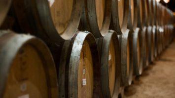 Des fûts de vin