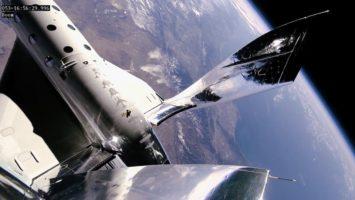 La Terre vue de l'espace à partir d'un vaisseau de Virgin Galactic