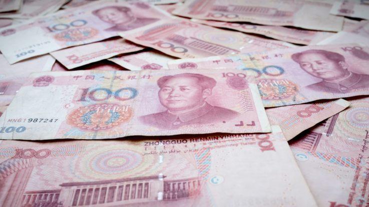 Des exemplaires de billets de yuan