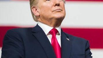 Le président américain Donald Trump lors d'un discours