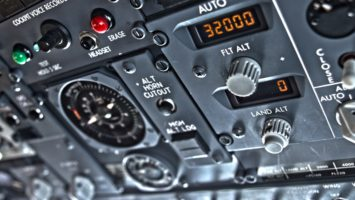 Tableau de bord d'un Boeing