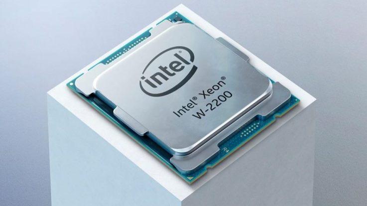 Le nouveau processeur Xeon W-2200 de Intel.