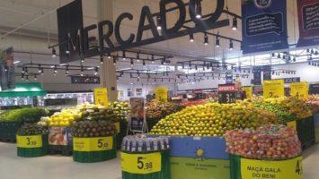 A l'intérieur d'un centre commercial de Grupo Carrefour Brasil.