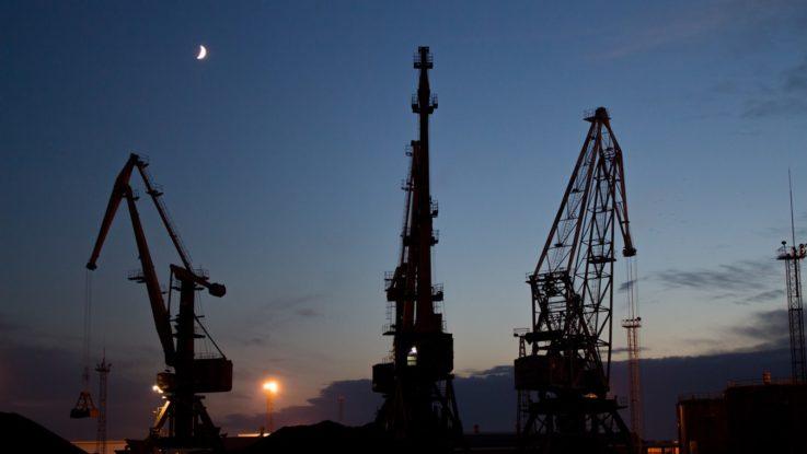 Une plateforme pétrolière à Kalinngrad, en Russie.