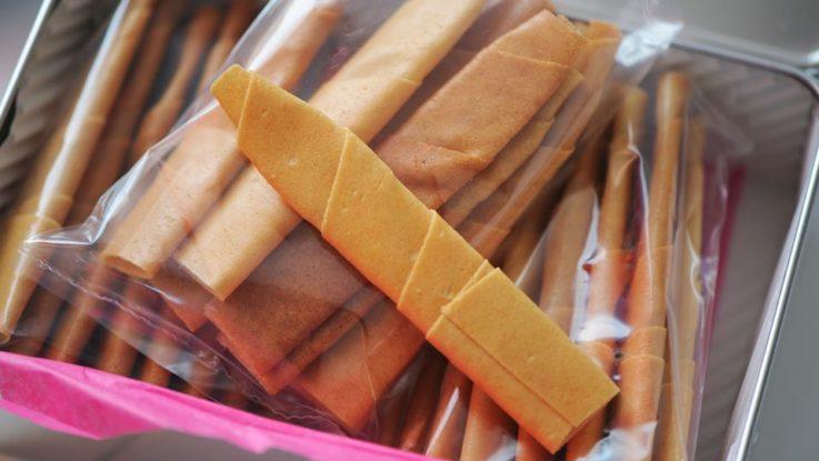 Des barres de biscuits de la Biscuiterie de Quimper.