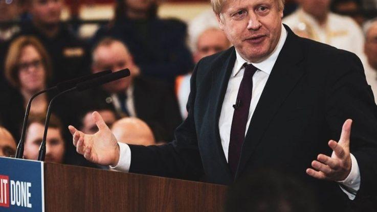 Le premier ministre britannique Boris Johnson en décembre 2019.