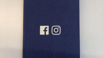 Un design representant le logo de Facebook et Instagram, propriété du réseau social.